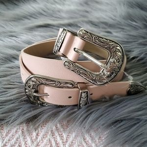 Light Pink Western Inspired Belt